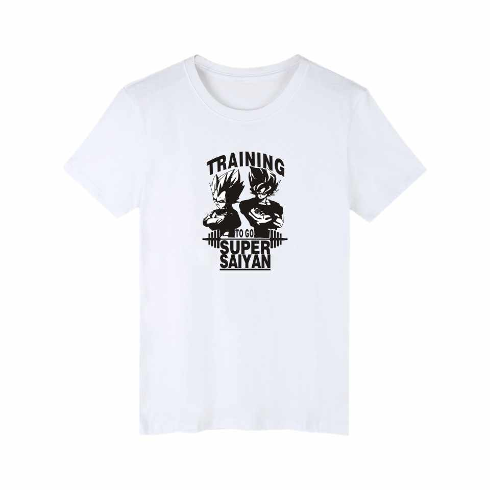 Супер Saiyan короткий рукав смешные футболки Для мужчин летние классические Япония Dragon Ball футболка Для мужчин Мода Аниме футболки хлопок Для мужчин