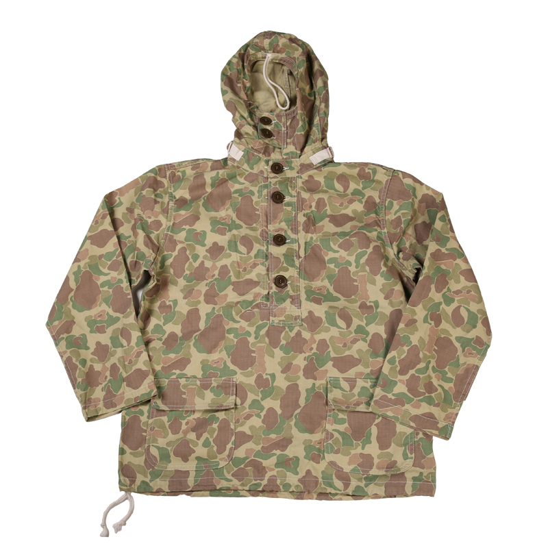 1940-х годов Usn комбинезон пуловер халат темно-9 унц. кромки джинсовой пуловер парка Бр ...