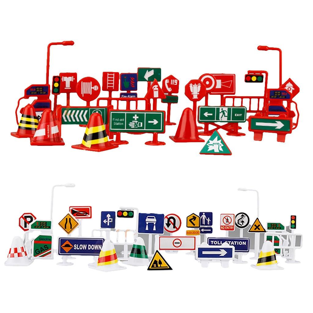 28 шт., автомобильная игрушка, дорожные знаки, дети, дети, игра, обучающая игрушка, литье под давлением, модель автомобиля, коллекция, игрушки д...