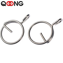 QOONG 2019 10pcs New 304 Stainless Steel EDC Hooks Quick Release Key Ring Tools To Protect Nails Practical Chain Holder Q08