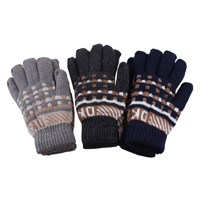 New 2018 fashion man golve snowflakes thick warm winter gloves for men and women free shipping
