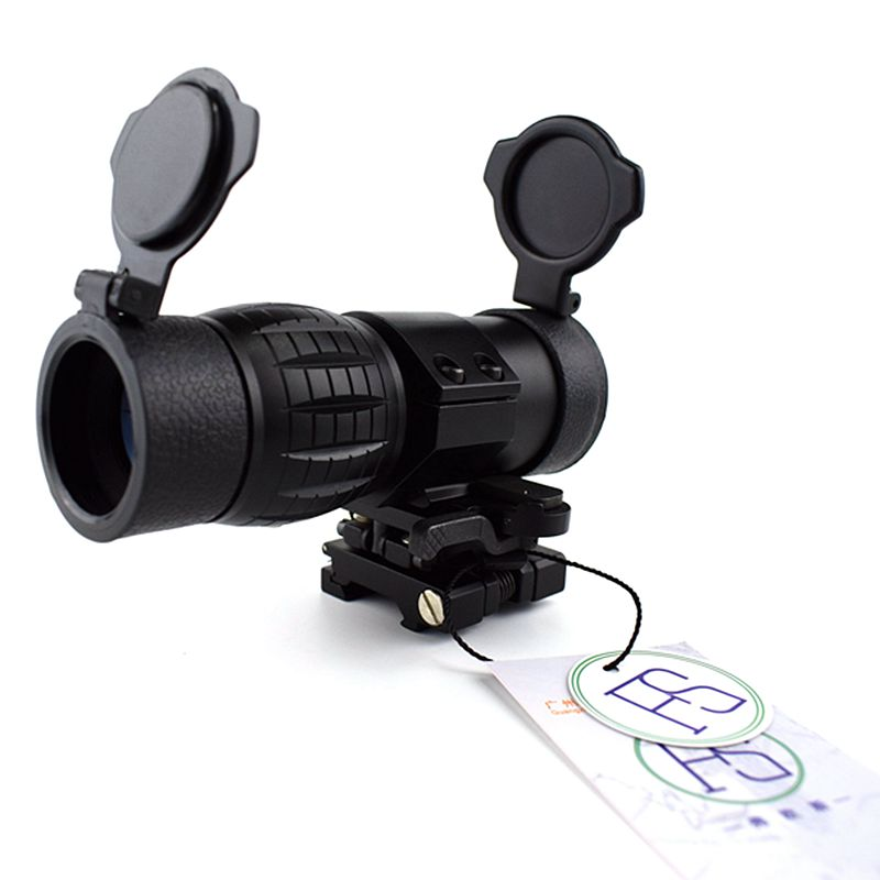 Tactical Sight Scope 3x Magnifier Sight Riflescope With Side Flip Picatinny Rail Mount Airsoft Rifle Outdoor Hunting Shooting in Riflescopes from Sports Entertainment