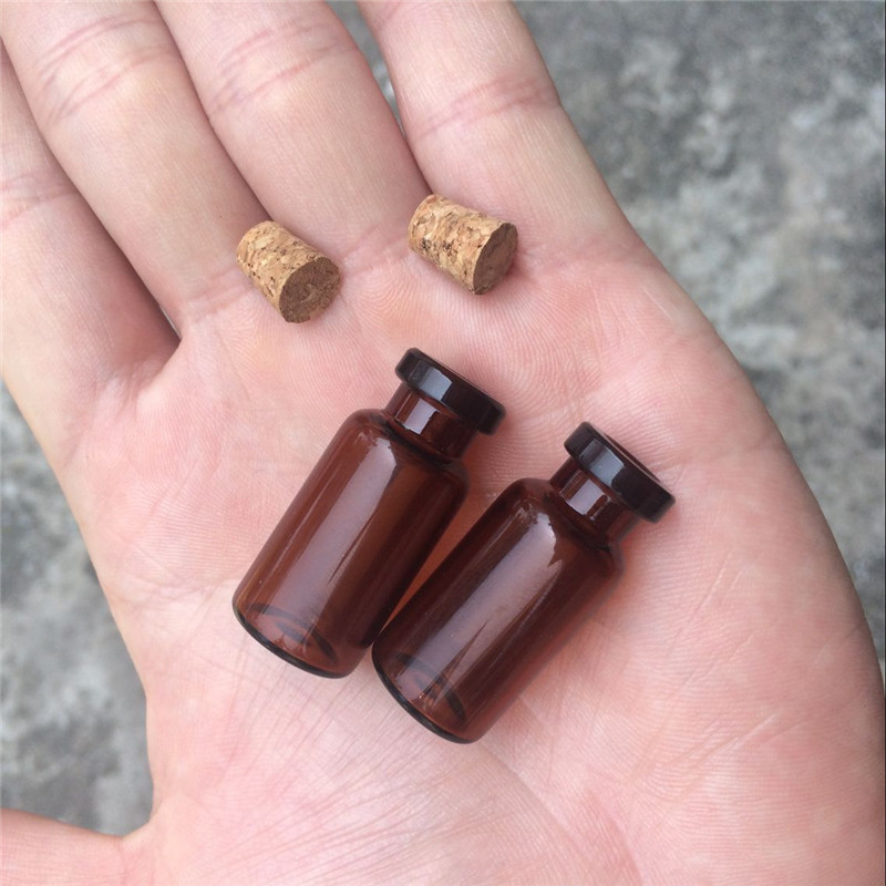 2ml Amber Glass Vials with Cork Empty Small Brown Tiny Glass Jars Mini Glass Bottles Vials Jars