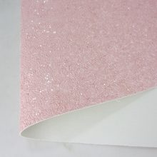 "8""x11""(21cmX29cm) Pink Glitter Faux Leather Sheet Glitter Fabric Sheet Quilting Fabric for Kid's craft Sewing DIY 1piece K052(China)"
