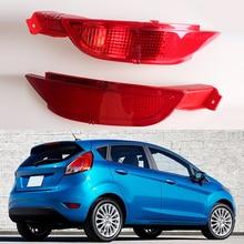 Tail Bumper Reflector Lamp Brake Light Rear Fog Lights for Ford Fiesta  Mk7 2008 2009 2010 2011 2012 2013 2014 RED Right Left цена 2017