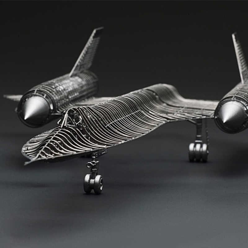 1/144 SR-71A شحرور كامل PE نموذج الياسمين 3D الصلب المعادن DIY مشترك التنقل مصغرة أطقم لغز لعبة الربط هواية بناء