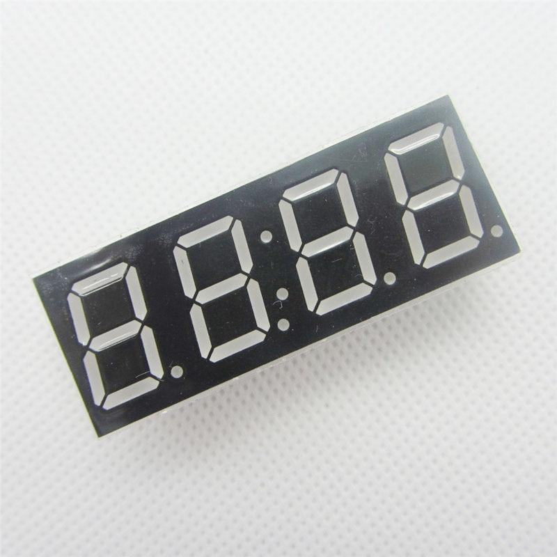2 Pcs Common Anode 4bit 4 Bit Digital Tube 0.56 Inch Red LED With Clock Digit 7 Segment (CLOCK)