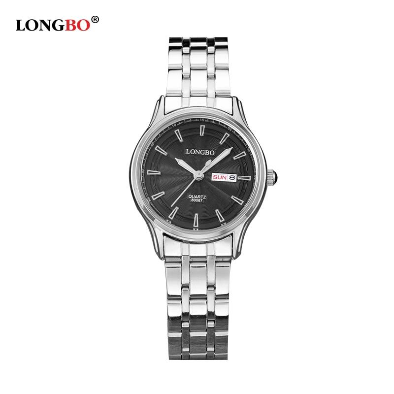2016 Top Brand LONGBO Watch Auto Date Full Steel Quartz Watch Men Women Lovers Waterproof Watches Hour Clock montre relogio mitsubishi heavy srk28hg s