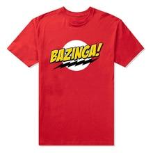 Summer clothing Bazinga T-Shirt Big Bang Theory Sheldon Cooper Cool Gift Gildan Men's Leisure fashion Cotton Tee free shipping