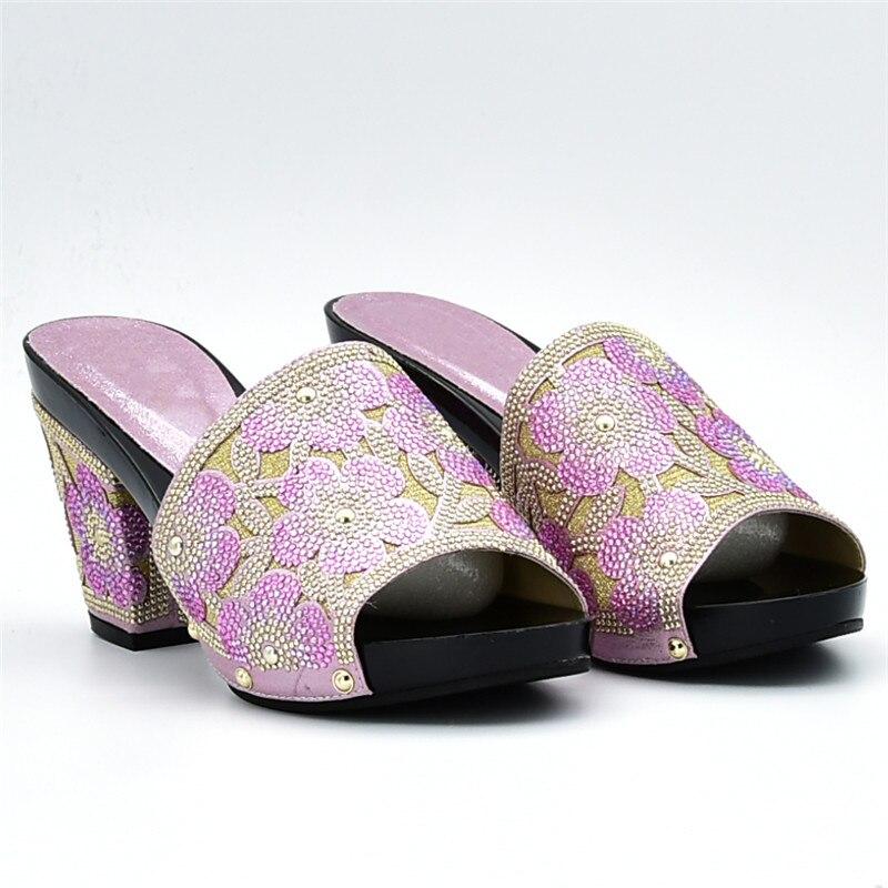 vert Ciel Dans Assorties Bleu Femmes Sac Africain Ensemble pu Et Parti pourpre Nouvelle Chaussures Arrivée jaune rose Nigérien Sacs rouge Chaussure Italien wTq0aa