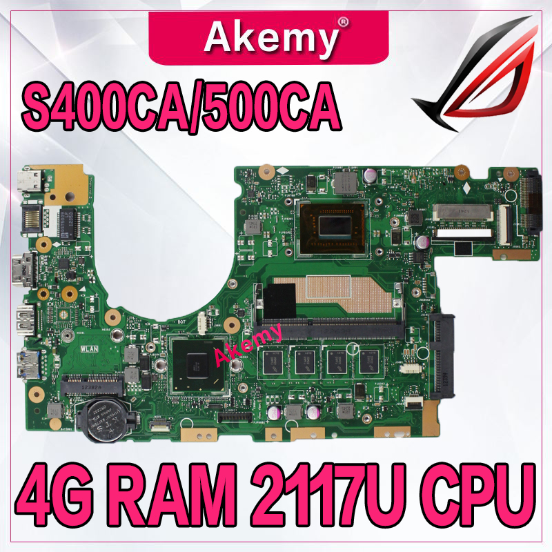 Akemy S400CA Laptop motherboard for ASUS S400CA S500CA S400C S500C S400 S500 Test original mainboard 4G
