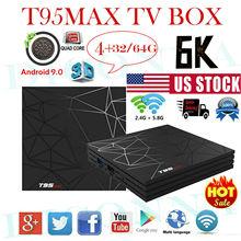 T95MAX Android 8.1 Oreo 4+64G 6K Quad Core Smart TV BOX 3D Media MINIPC Streamer