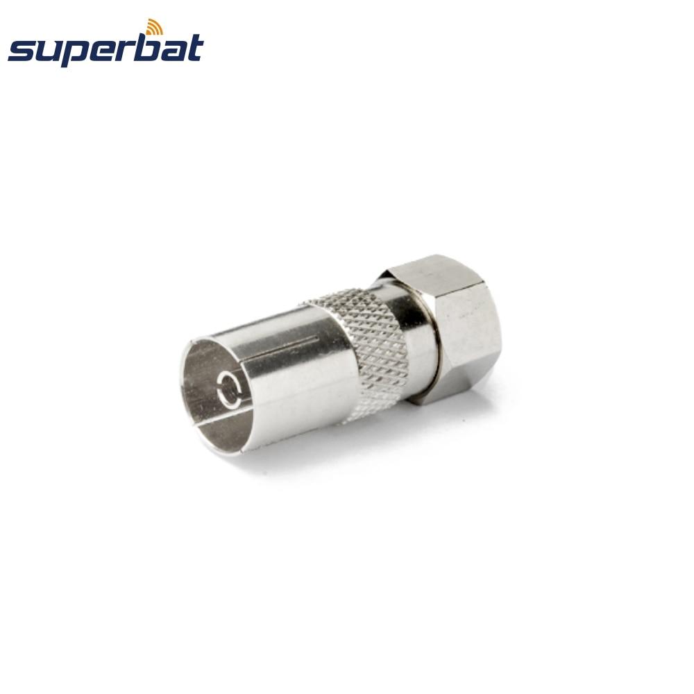 Superbat DVB-T TV-Tuner Antenna Adapter F Plug to DVB-T Jack RF Coaxial Connector