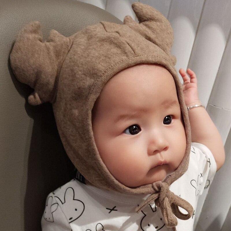 Herbst Winter Cartoon Geweih Nette Warme Kleinkind Baby Hut Entzückende Hut Baby Mütze Foto Requisiten 3-24 Monate Ad0463 GüNstige VerkäUfe