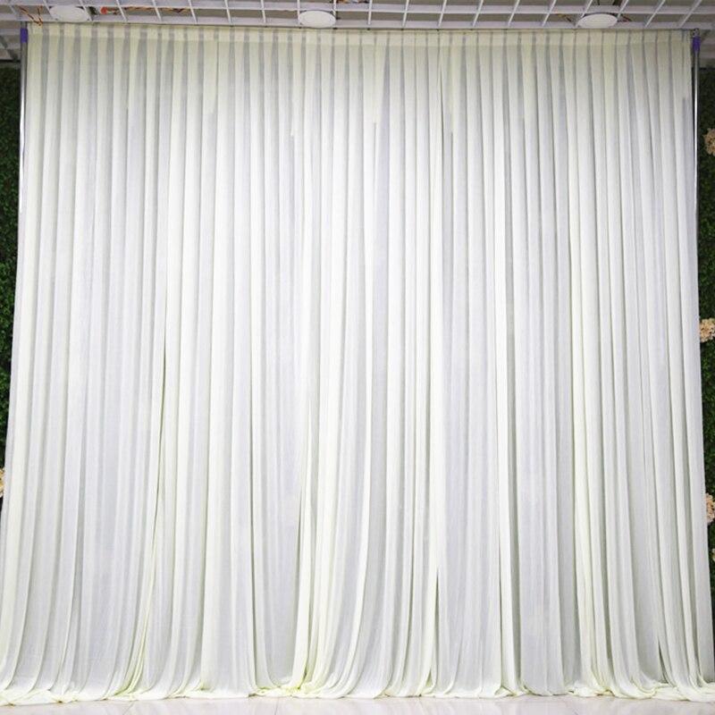Ev ve Bahçe'ten Parti Arka Planları'de 3X3M Basit beyaz buz ipek düğün backdrop olay parti örtü perde düğün parti ev dekorasyon arka plan 10ft * 10ft'da  Grup 1