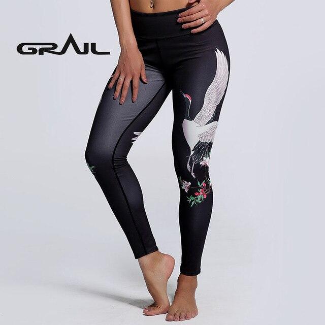 aadd83151d GRAIL Women Style Scale Mermaid Print Leggings Long Trousers Yoga Pants  Fitness Leggins Slim Fit Leggings Woman Pants YOGA-0192