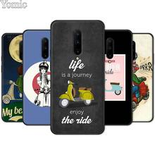 Vespa Scooter Phone Case for Oneplus 7 7 Pro 6 6T 5T Silicone Case for Oneplus 7 7Pro Black Soft TPU Cover Shell