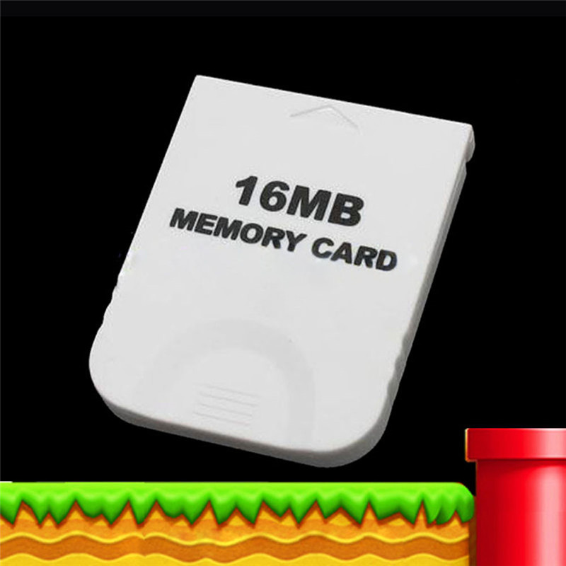 White 16MB Memory Card For Nintendo Wii Gamecube GC Game Replacement Memory Card for Game System Console