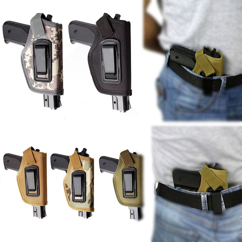 Hot Tactical Compact /Subcompact Pistol Case Waist Holster Glock Accessory Airsoft Hunting Handgun Nylon CS Field Small Holster image