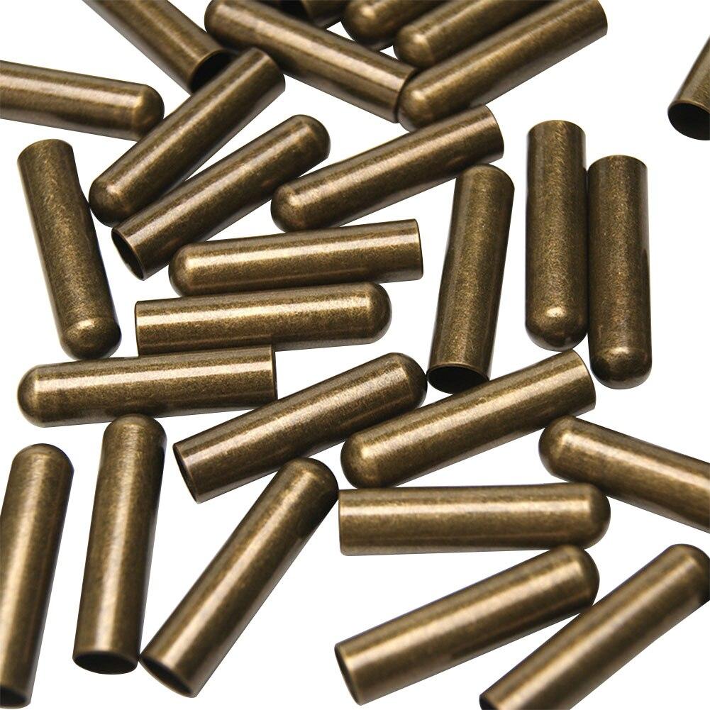 50 шт. Модные DIY концы аксессуары прочные металлические Aglets бесшовные нержавеющие ремонтные сменные наконечники для шнурков Роскошные фиксаторы - Цвет: 3
