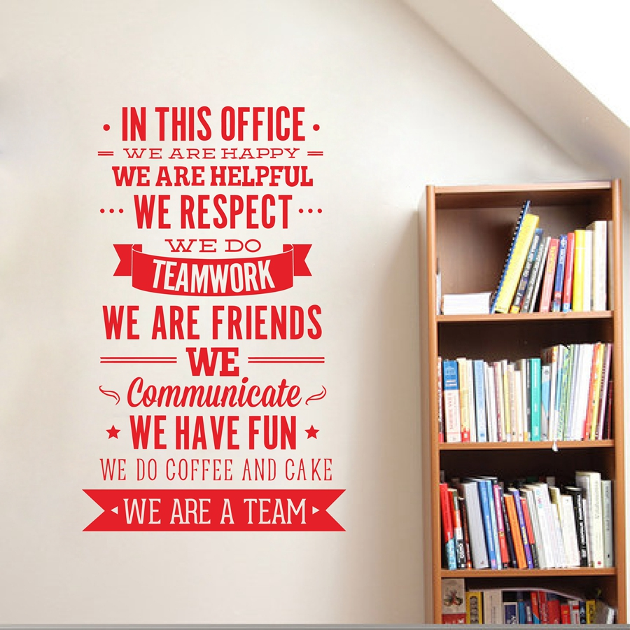 Online Buy Wholesale office wall sticker from China office wall
