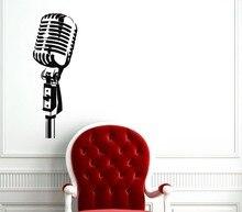 Studio Microphone Removable Art Decor