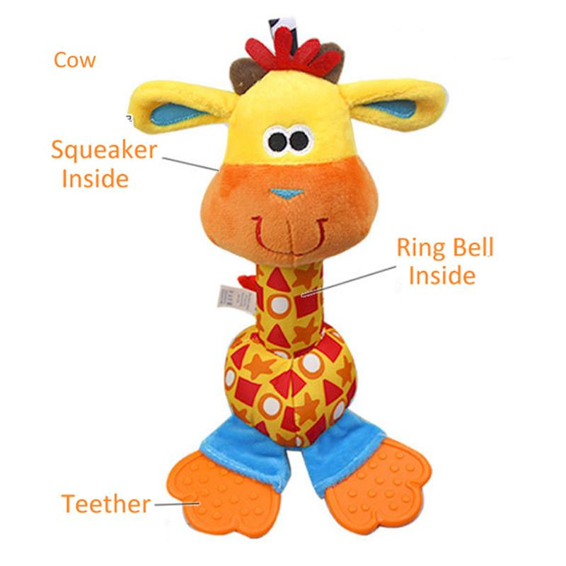 Mordedor bebé de juguete móvil soft toys rattle desarrollo educativo temprano in