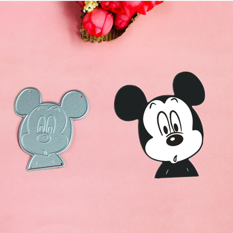 Mickey love bow Metal Cut Dies Christmas Stencils For DIY Scrapbook Paper Card Decorative Craft Embossing Die Cuts in Cutting Dies from Home Garden