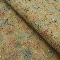 Portugal Cork Fabric 68 50cm 26 7 19 6inch Colorful Cork Rainbow Fabric Rustic Natural Cork