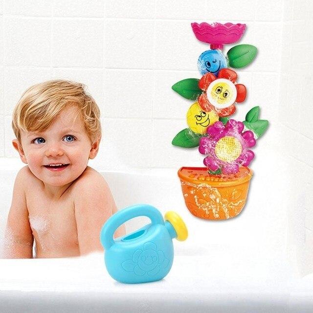Bebek küveti Su Oyunu Banyo Oyuncak Çiçek Musluk Duş Bebek Banyo Bacalı Oyun Banyo Püskürtme Aracı Komik oyuncak seti Kız Erkek