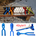 Winter Snow Ball Maker Sand Mold Tool Kids Toy Snow Scoop Maker Clip Outdoor Sport Child Toy Random Color Big Size 36CM(4 style)