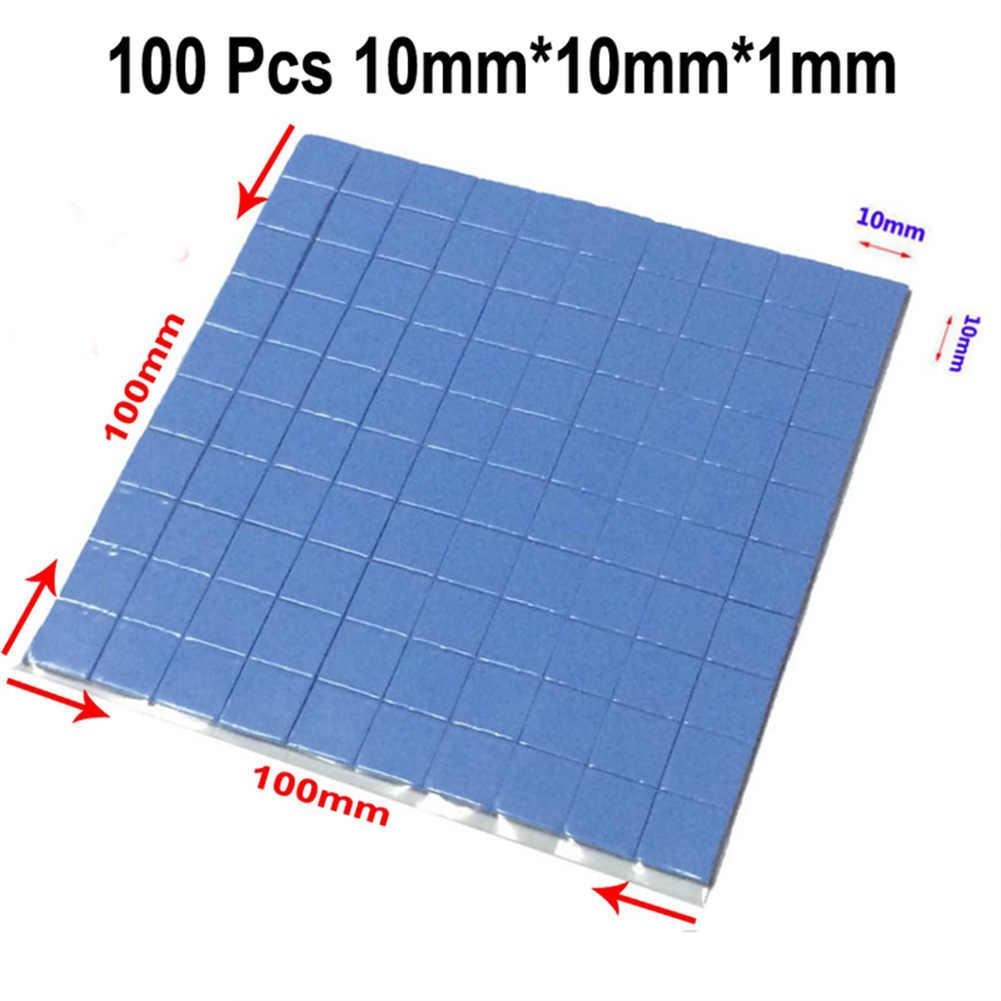 2016 عالية الجودة 10 مللي متر * 10 مللي متر * 1 مللي متر 100 قطعة لوحة حرارية GPU وحدة المعالجة المركزية التبريد موصل بطانة حماية من السيليكون