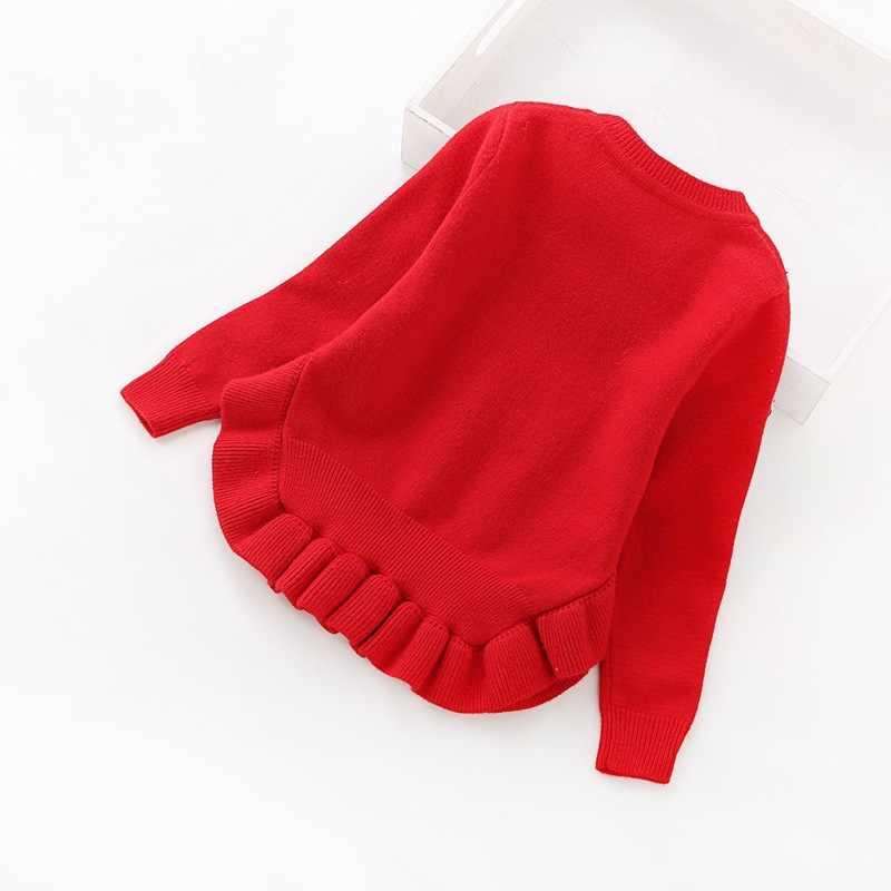 2020 เสื้อผ้าเด็กใหม่ 2-6years เสื้อกันหนาวผู้หญิงรอบคอ pullover เสื้อกันหนาว 8025