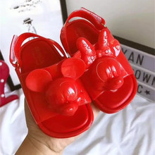 Mini Melissa 2018 Summer New Mickey & Minnie Girl Jelly Sandals Breathable Baby Beach