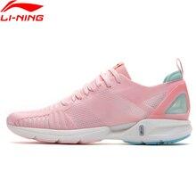 Li Ningผู้หญิงSUPER LIGHT 16 Cushionรองเท้าวิ่งรองเท้าโฟมBreathable Monoเส้นด้ายซับกีฬารองเท้ารองเท้าผ้าใบARBP012 SAMJ19