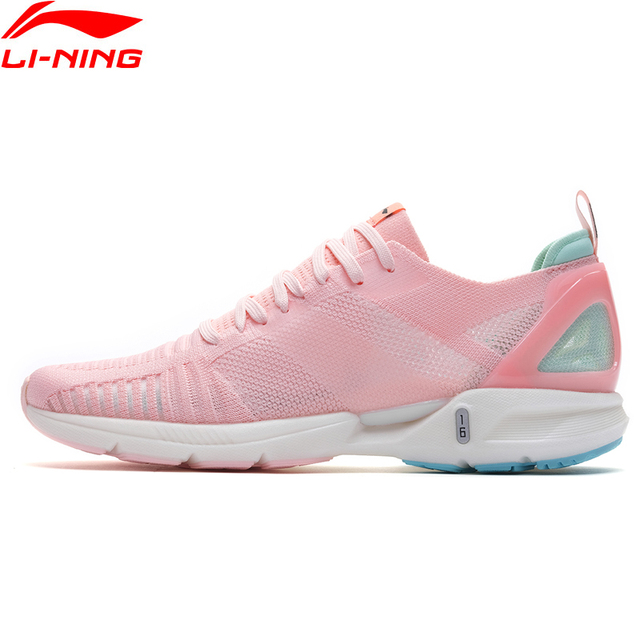 Li Ning Women SUPER LIGHT 16 Cushion Running Shoes LIGHT FOAM Breathable Mono Yarn LiNing Sport Shoes Sneakers ARBP012 SAMJ19
