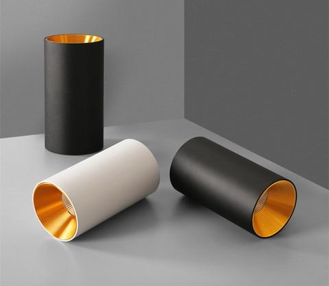 superficie montada cilindrica led cob downlight refletor
