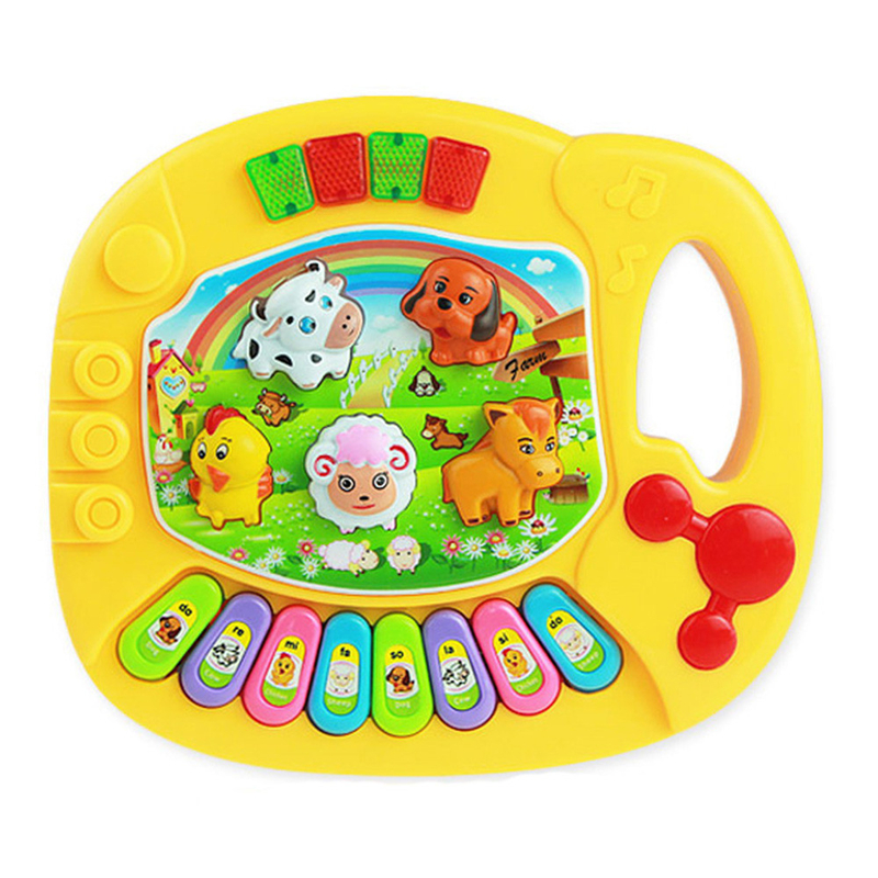 Cutely Baby Kids Musical Educational Animal Farm Piano Developmental Music Toy Great Learning Instrument Tools Drop Shipping #