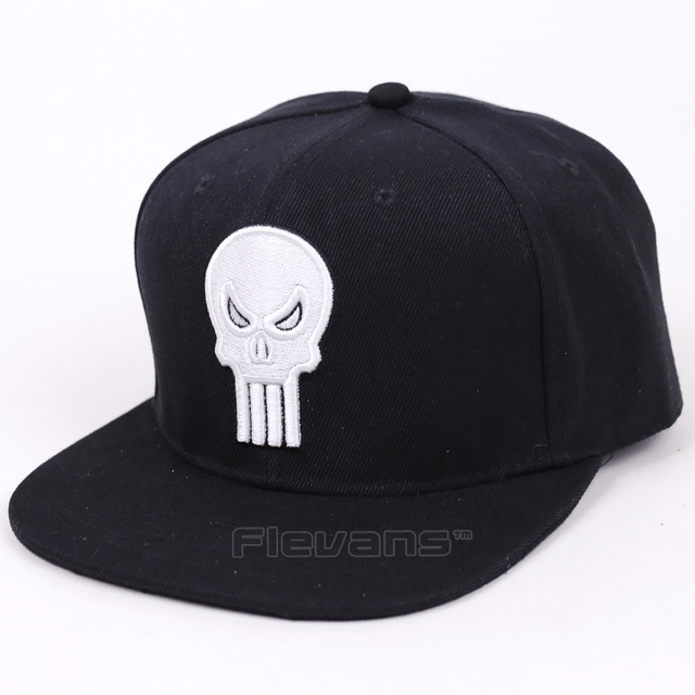 b1bd41e452e Cool Marvel Super Hero Punisher Baseball Cap Mens Fashion Snapback Hip Hop  Caps Adjustable Hat
