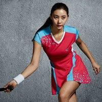 New Tennis Dress Badminton Dress Quick Dry Breathable Dress Bodybuilding Uniforms Sports Suit Dress Short