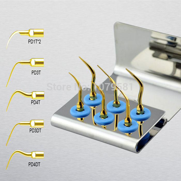 1 set SPKG Dental scaler perio tips kit for Satelec ENDOSUCCESS RETREATMENT NSK Paro-Set B and GNATUS hu-friedy dental SCALERS 1 set spkg scaler perio tips kit for satelec endosuccess retreatment kit and nsk paro set b and gnatus hu friedy dental scalers