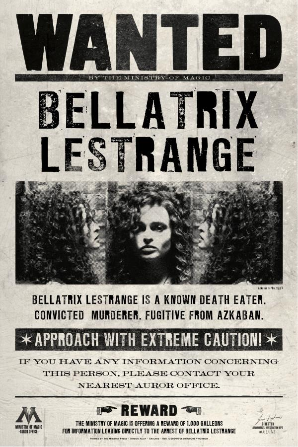Custom Canvas Wall Decals Harry Potter Wanted Poster Bellatrix Lestrange Wall Stickers Helena Carter Wallpaper Retro Sticker 835