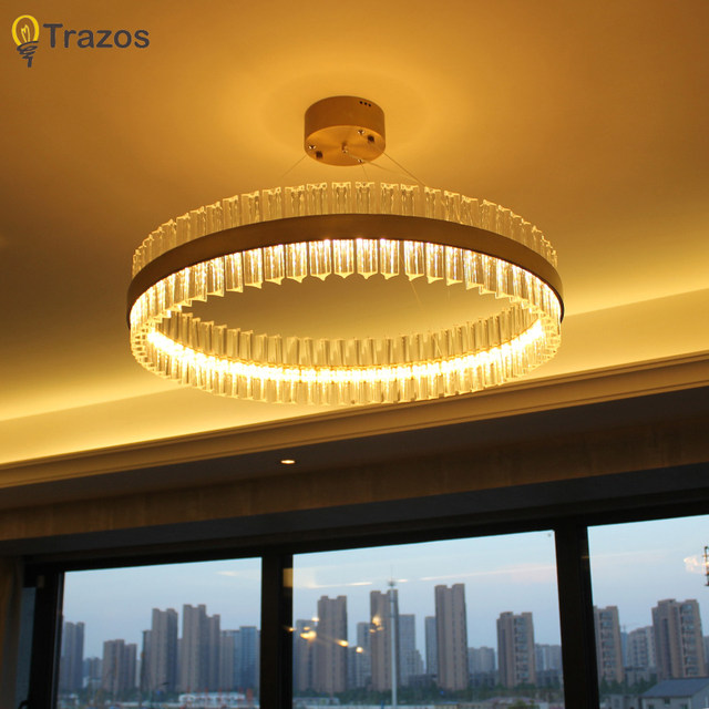 Online Shop Luxury Diamond LED Chandelier Crystal Lamp Modern - Orange chandelier crystals