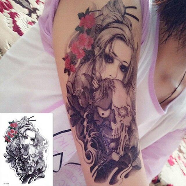 Moda Tatuajes Temporales Grandes Body Art Pintura En El Brazo Pierna