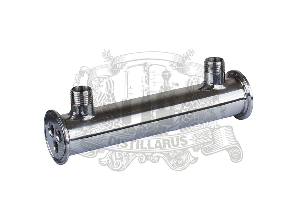 1,5(38mm)OD50.5 Dephlegmator / Reflux length 200mm , 3 pipes ID 8mm