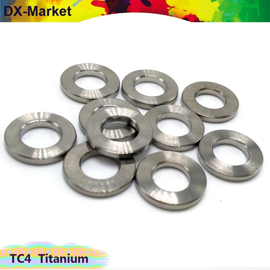 M5 m6 m8 m10 титановая шайба 20 шт./лот, Gr5 титановый сплав плоские шайбы, TC4 титановый сплав крепеж
