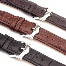 ROPS nuevo producto relojes de pulsera negro brown correas de reloj correa de cuero genuina de Los Hombres Correa de Reloj 18mm 20mm 22mm Venda de reloj