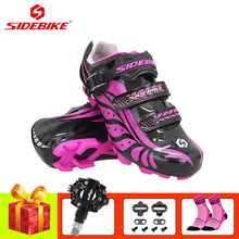 SIDEBIKE pro cycling shoes pink sapatilha ciclismo mtb SPD Pedals 2019 women Ultralight self-locking riding sneakers
