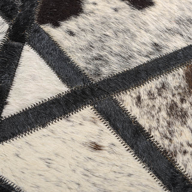 Online Shop Artist Cowhide Patchwork Rug Modern Creative Art Work