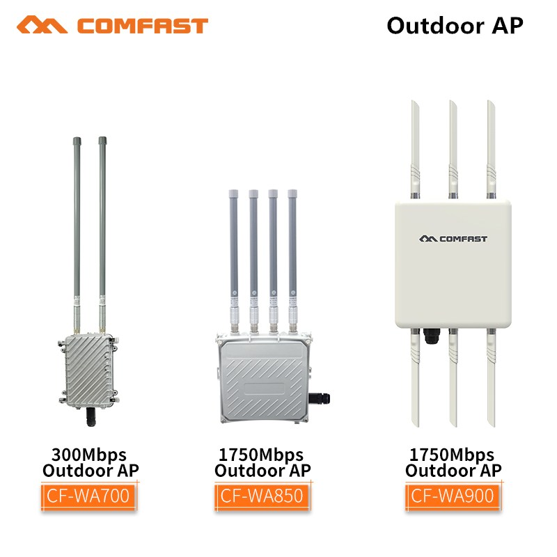 2.4G & 5.8G 300Mbps~1750Mbps Ethernet wireless outdoor AP wifi router poe bridge repeater with FRP antenna base station for park